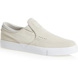 Nike SB Zoom Stefan Janoski Slip On Shoes - White Bone