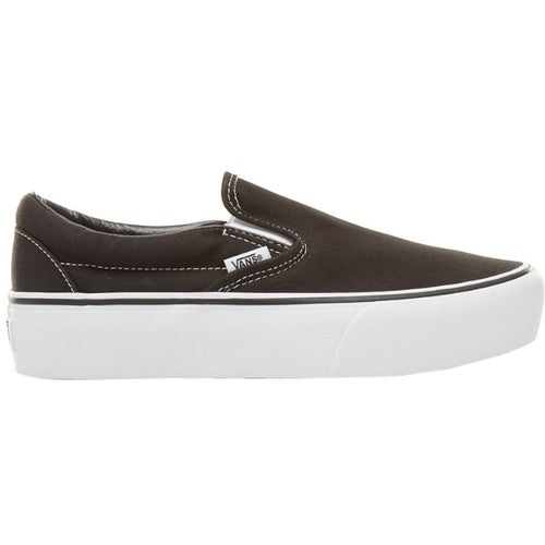 Vans Classic Platform Slip On Shoes - Black