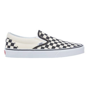 Vans Classic Slip On Shoes - Black White Checker White