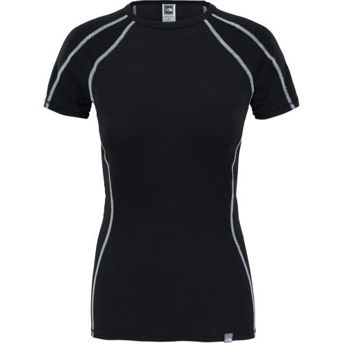 North Face Light SS Crew Neck Ladies Base Layer Top - TNF Black