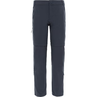 North Face Exploration Convertible SHORT LEG Ladies Walking Pants - Asphalt Grey