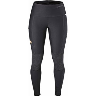 Fjallraven Abisko Trekking Tights Ladies Walking Pants - Dark Grey