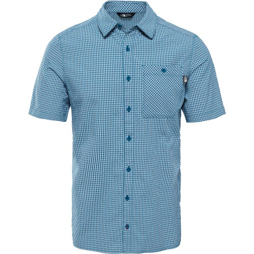 North Face Hypress Shirt - Blue Coral Plaid