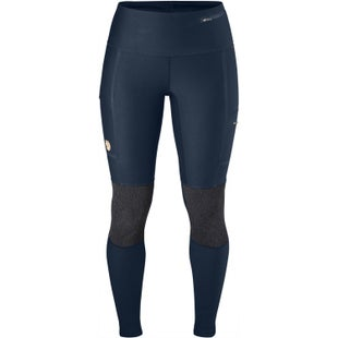 Fjallraven Abisko Trekking Tights Ladies Walking Pants - Navy