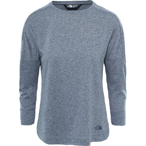 North Face Inlux Three Quarter Ladies LS T-Shirt - Vanadis Grey Heather