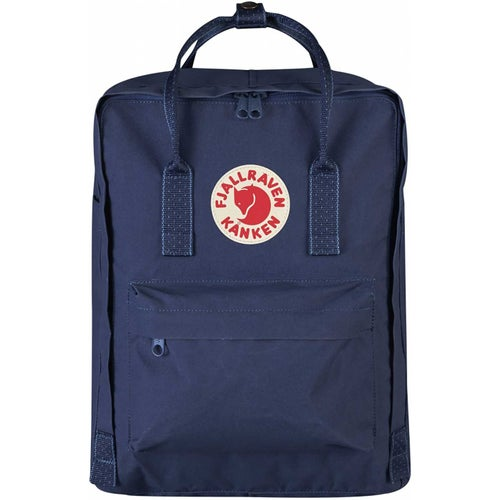 Fjallraven Kanken Classic Backpack - Royal Blue Pinstripe Pattern