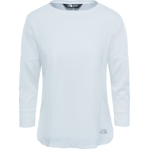 North Face Inlux Three Quarter Ladies LS T-Shirt - TNF White