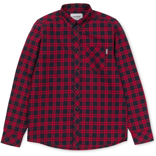 Carhartt Shawn Shirt - Shawn Check, Scarlet