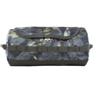 North Face Base Camp Travel Canister Large Washbag - English Green Tropical Camo New Taupe Green