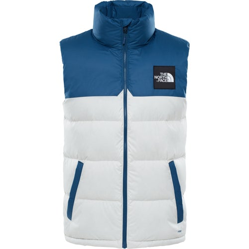 North Face Capsule 1992 Nuptse Vest - Blue Wing Teal Vintage White