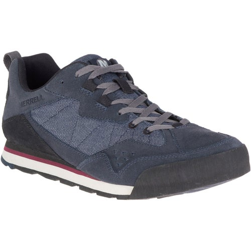 Merrell Burnt Rock Tura Denim Low Shoes - Navy Choc Truffle