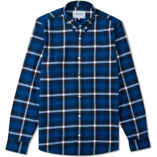 Carhartt Lamont Shirt - Check Deep Sea