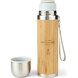 Northcore Adventure Bamboo Stainless Steel 360ml with Mug Flask - Silver