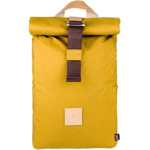The Level Collective Winnats Roll Top Backpack - Mustard