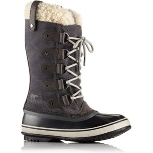 Sorel Joan Of Arctic Shearling Faux Fur Ladies Boots - Dark Grey Black