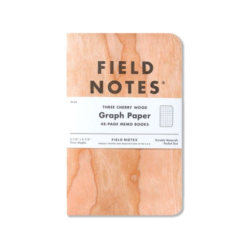 Field Notes Graph Paper Memo 3 Pack Book - Cherry Wood