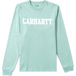 Carhartt College LS T-Shirt - Soft Green White