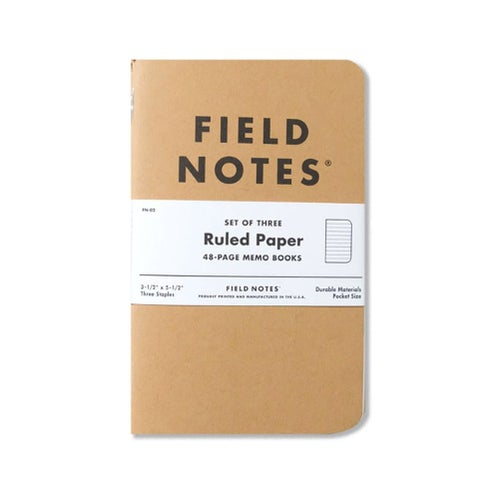 Field Notes Original 3 Pack Memo Ruled Book - Clear