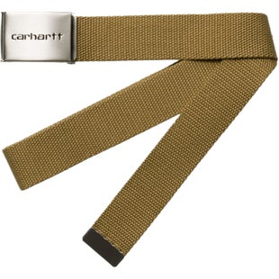 Carhartt Clip Chrome Web Belt - Brown