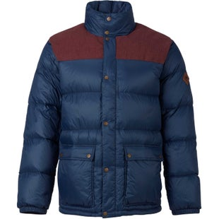 Burton Heritage Collared Down Jacket - Chestnut Cord Mood Indigo