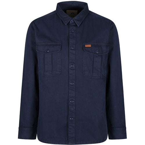 Passenger Clothing Highlands Shirt - Navy Twill