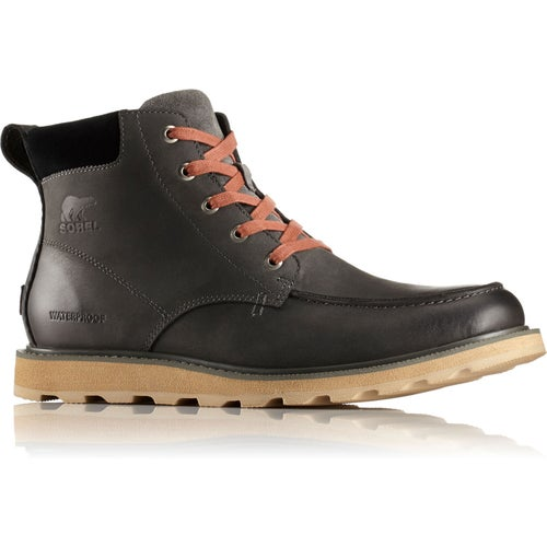 Sorel Madson Moc Toe Waterproof Boots - Grill Black