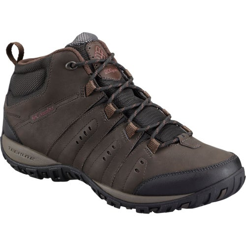 Columbia Woodburn II Chukka WP OmniHeat Hiking Shoes - Cordovan Garnet Red