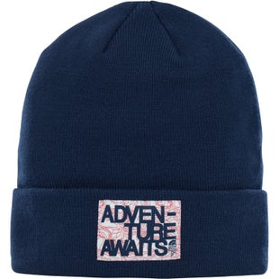 North Face Dock Worker Kids Beanie - Cosmic Blue TNF Red