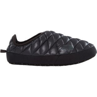North Face Thermoball Tent Mule IV Ladies Slippers - Shiny TNF Black Beluga Grey