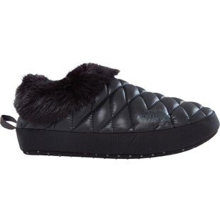 North Face Thermoball Tent Mule Faux Fur IV Ladies Slippers - Shiny TNF Black