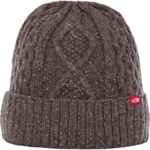 North Face Lambswool Beanie - Falcon Brown