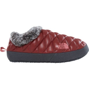 North Face Thermoball Tent Mule Faux Fur IV Ladies Slippers - Shiny Barolo Red Iron Gate Grey
