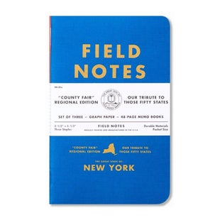 Field Notes Country Fair New York 3 Pack Memo Book - Blue