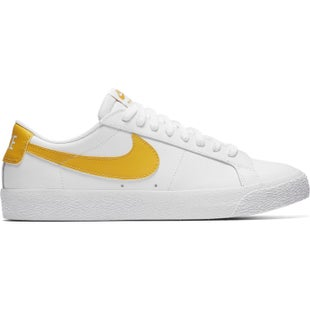 Nike SB Zoom Blazer Low Shoes - White Mineral Gold