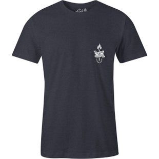 The Level Collective Flame T Shirt - Slate