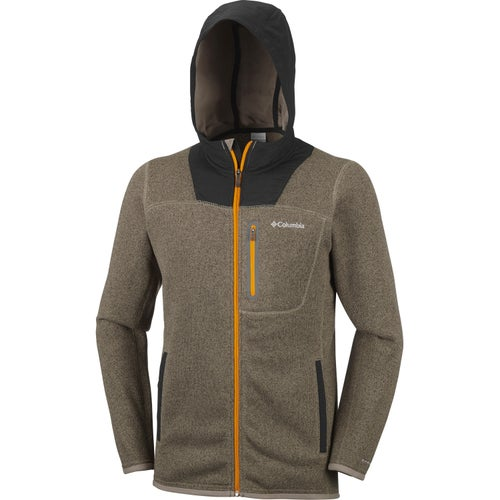 Columbia Altitude Aspect Full Zip Hooded Fleece - Sage Black