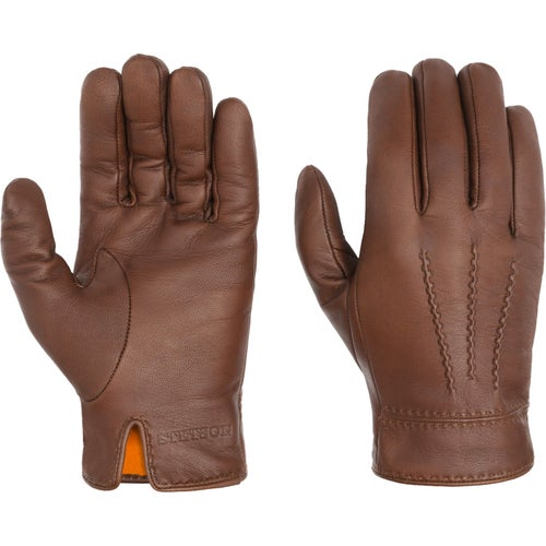 Stetson Nappa Goatskin Gloves - Dark Brown