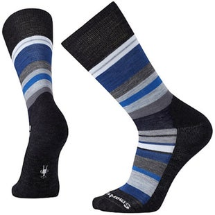 Smartwool Saturnsphere Socks - Charcoal Heather Blue Ice
