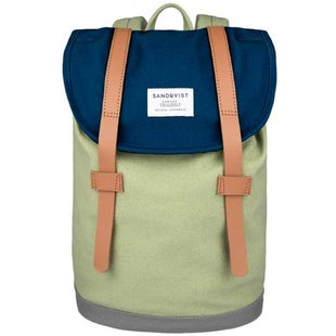 Sandqvist Stig Mini Backpack - Multi Blue Sage Grey