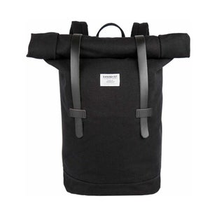 Sandqvist Stig Rolltop Backpack - Black