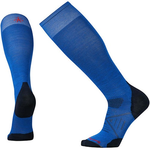 Smartwool PhD Ski Ultra Light Snow Socks - Bright Blue
