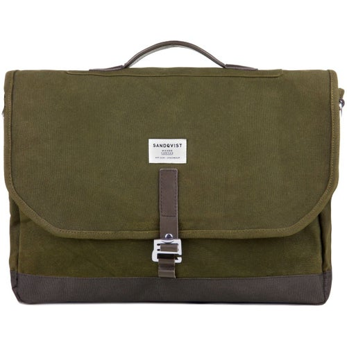 Sandqvist Finn Bag - Waxed Olive