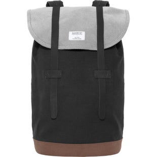 Sandqvist Stig Backpack - Multi Black Grey Brown