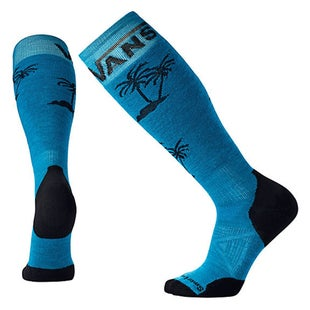 Smartwool PhD Slopestyle Light Vans Snow Socks - Palm Glacial Blue