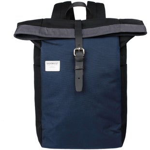 Sandqvist Silas Backpack - Multi Black Blue Grey