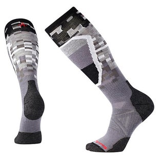 Smartwool PhD Ski Medium Pattern Snow Socks - Graphite