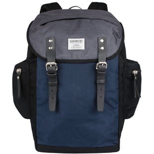 Sandqvist Lars Goran Backpack - Multi Black Blue Grey