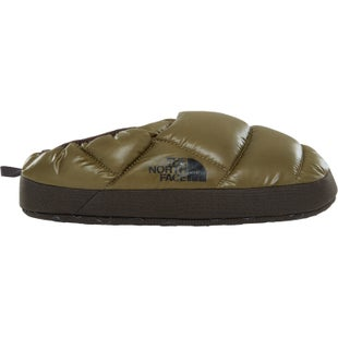 North Face Nuptse Tent Mule III Slippers - Shiny Burnt Olive Black Ink Green