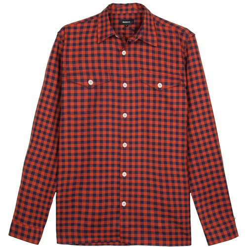 Finisterre Kepler Shirt - Rum Navy Check