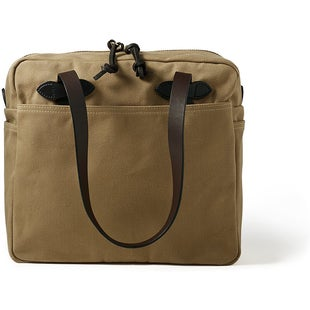 Filson Tote With Zipper 17 Luggage - Tan